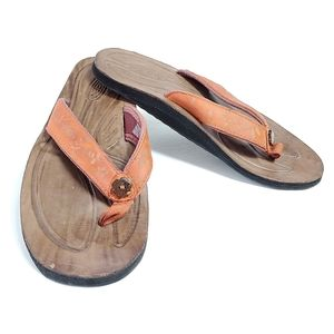 Keen Florence Leather & Neoprene Rust Sandal